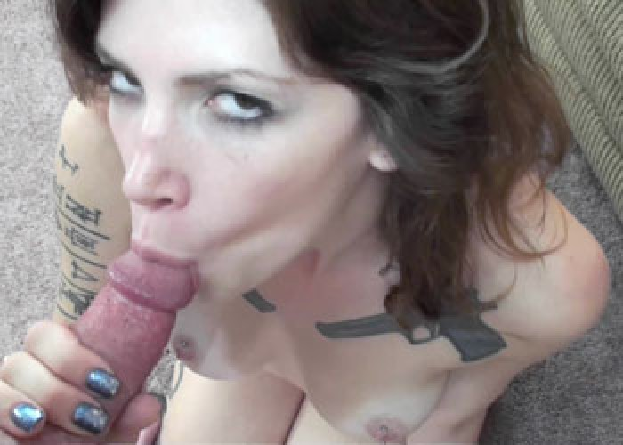 Indigo Augustine is sucking some cock