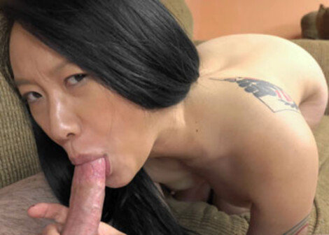 Chinese cutie Zoe gives Logan a blowjob