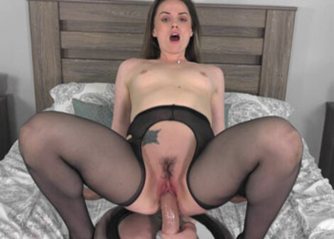 Brunette babe Tori is riding a huge dong